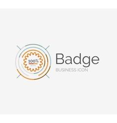 Thin line neat design logo premium quality stamp vector