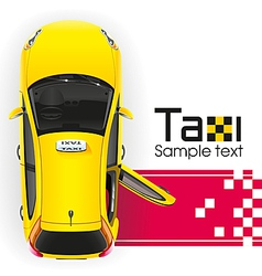 Yellow taxi red carpet vector