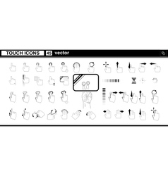 Web icons hand touchscreen interface vector