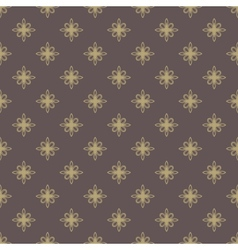 Floral seamless pattern orient golden abstract vector