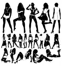 Fashion sexy women vector