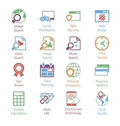 Color internet marketing icons vol 3 vector