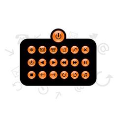 Set of info buttons vector
