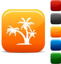 Tropical icons vector