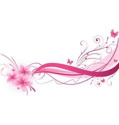 Plumeria pink wave vector