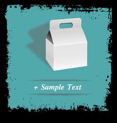 Paper art box vector