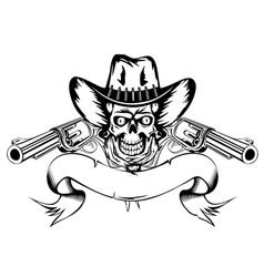 Cowboy with revolvers vector
