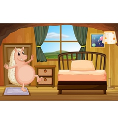 A molehog at the bedroom vector
