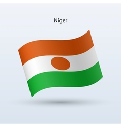 Niger flag waving form vector