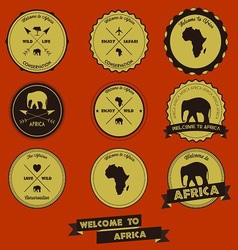 Africa label design vector