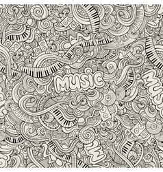 Music sketchy doodles hand-drawn vector