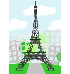 Cartoon paris vector