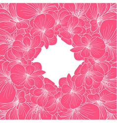 Pink and white orchid frame vector
