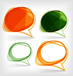 Background of abstract talking bubble vector