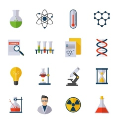 Chemistry icon flat vector
