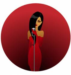Diva in red vector