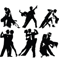 Dancing silhouettes vector