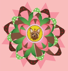 Beautiful yorkshire terrier award vector