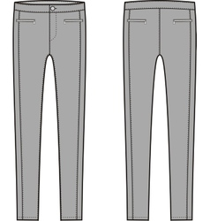 Skinny pants vector