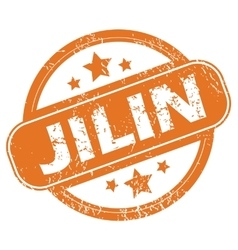 Jilin rubber stamp vector