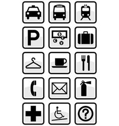 Service signs vector