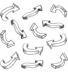3d arrows vector
