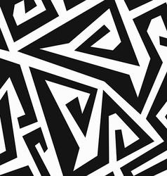 Monochrome labyrinth seamless pattern vector