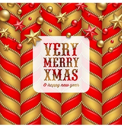 Christmas decor and label with holidays greetings vector
