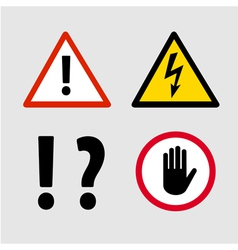 Warning signs vector