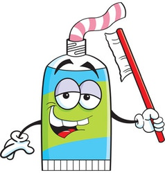Cartoon tube of toothpaste vector