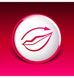 Applying lipstick using lip concealer brush vector