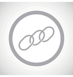 Grey chain sign icon vector