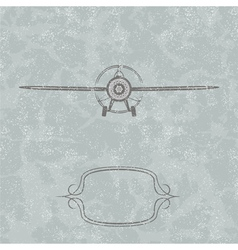 Vintage plane background vector
