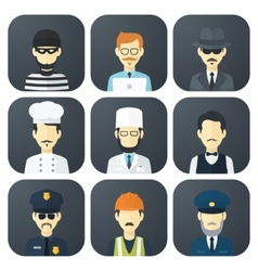 Occupations icons set vector