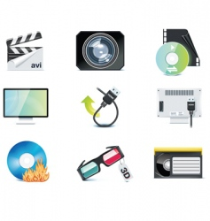 Video icons vector