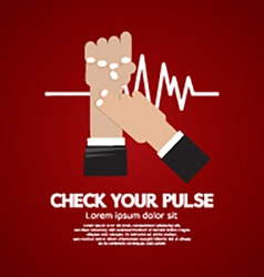 Fingers checking pulse medical concept vector