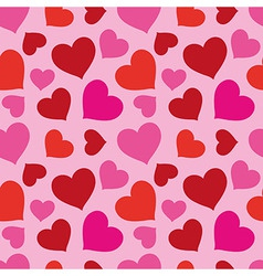Pattern of hearts seamless texture vector