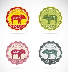 Set of pig label vector
