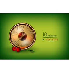 Clock showing 10 minutes vector