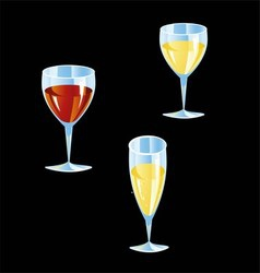 Cocktail collection isolated vector