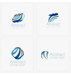 Circle abstract shape logo vector