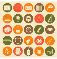 Set education icons vector