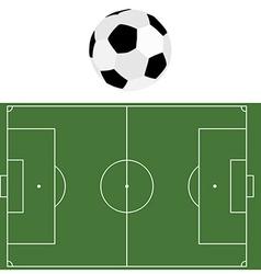 Football ball and soccer field vector