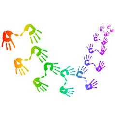 Hand prints vector