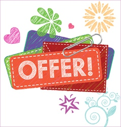 Offer card vector