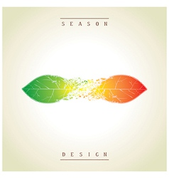 Demi seasonal creative design as the leaves vector