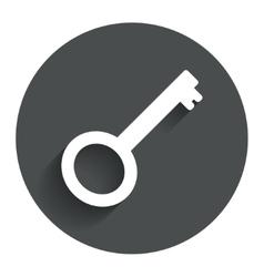 Key sign icon unlock tool symbol vector