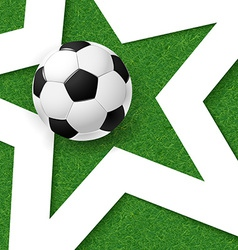 Soccer football poster grass background with white vector