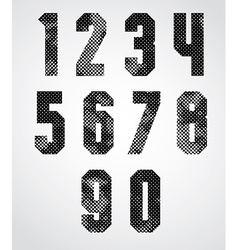 Black and white dotty graphic industrial numbers vector