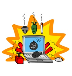 Bombs on computer vector